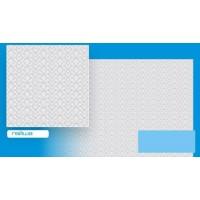 Гейша голубая (люкс) 500*500/32/ Плитка потолочная
