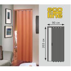 Дверь складная 002 /203*90/L2010/ белая /6/