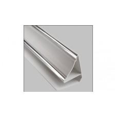 Плинтус потолочный цветной /люкс серебро/