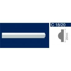 С18/20 Белый Молдинг потолочный 20*2000 /265/