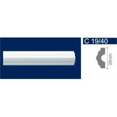 С19/40 Белый Молдинг потолочный 38*2000 /120/