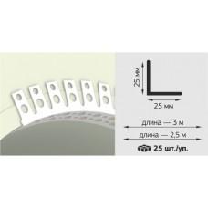 Угол арочнын перфорированный ПВХ 25х25 мм 2,5 м (профиль NL) (50) НОВЫЙ