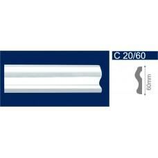 С20/60 Белый Молдинг потолочный 60*2000 /60/