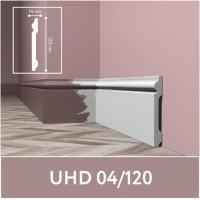 Плинтус напольный ударопрочный UHD04/120, белый, L2.0м/ ТМ Unica /6/